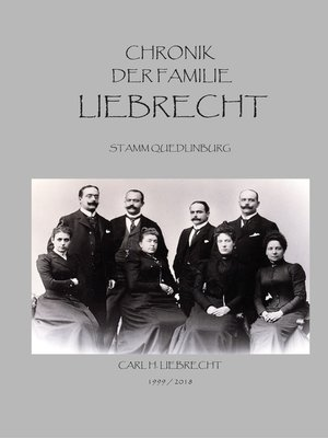cover image of Chronik der Familie Liebrecht