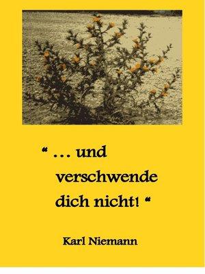 """cover image of """"... und verschwende dich nicht!"""""""