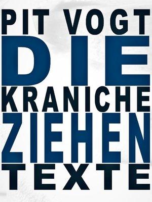 cover image of Die Kraniche ziehen