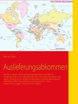 cover image of Auslieferungsabkommen