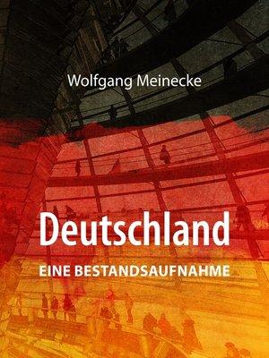 cover image of Deutschland--eine Bestandsaufnahme
