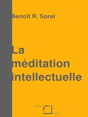 cover image of La méditation intellectuelle