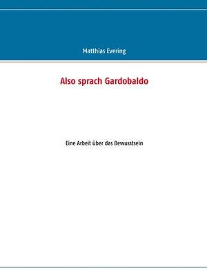 cover image of Also sprach Gardobaldo