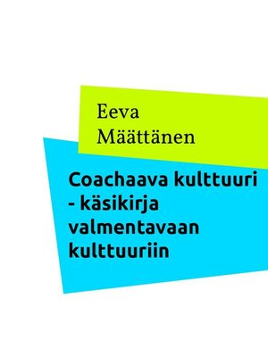 cover image of Coachaava kulttuuri