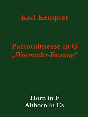 cover image of Kempter--Pastoralmesse in G.Horn.Althorn