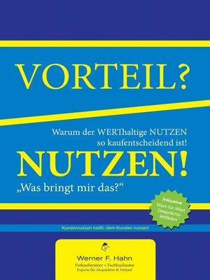 cover image of Vorteil-/Nutzen-Argumentation