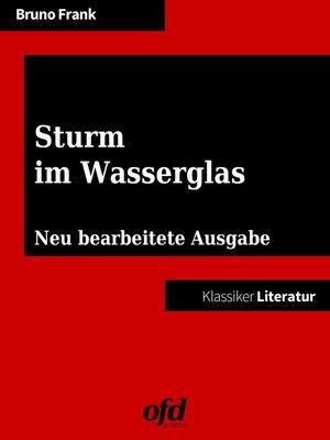 cover image of Sturm im Wasserglas
