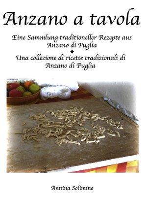 cover image of Anzano a tavola