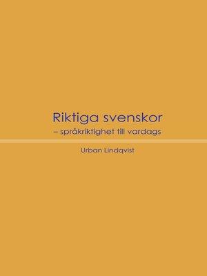 cover image of Riktiga svenskor