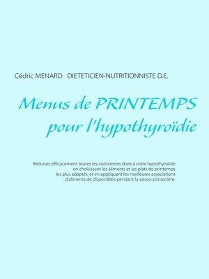 cover image of Menus de printemps pour l'hypothyroïdie