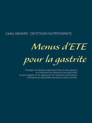 cover image of Menus d'été pour la gastrite