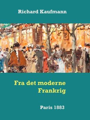cover image of Fra det moderne Frankrig