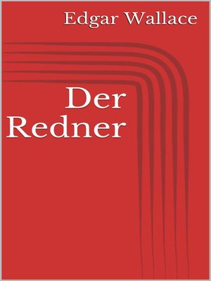 cover image of Der Redner