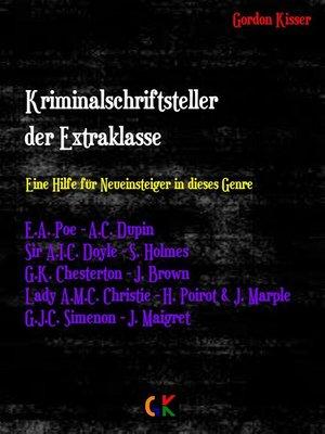 cover image of Kriminalschriftsteller der Extraklasse