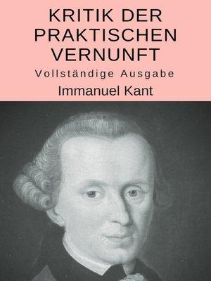 cover image of Kritik der praktischen Vernunft