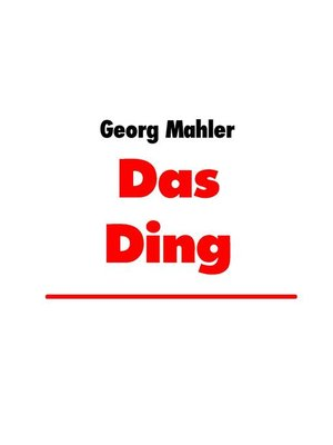 cover image of Das Ding