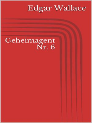 cover image of Geheimagent Nr. 6
