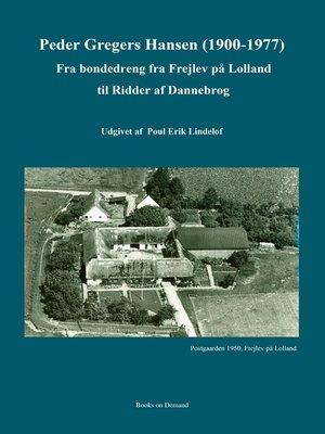 cover image of Peder Gregers Hansen (1900-1977)