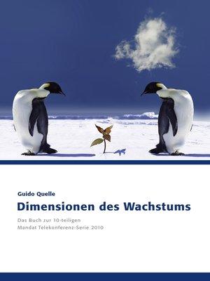 cover image of Dimensionen des Wachstums