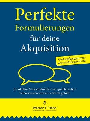 cover image of Perfekte Formulierungen für deine Akquisition