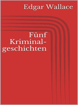 cover image of Fünf Kriminalgeschichten