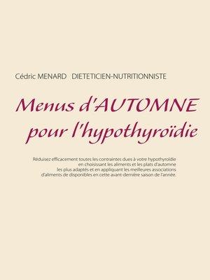cover image of Menus d'automne pour l'hypothyroïdie