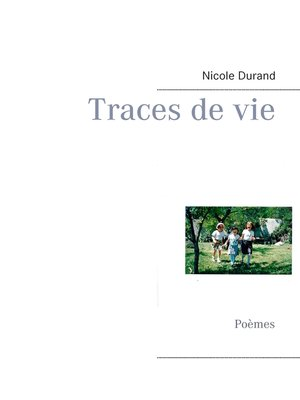 cover image of Traces de vie