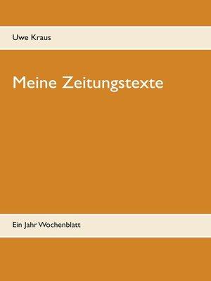cover image of Meine Zeitungstexte