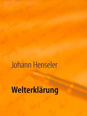 cover image of Welterklärung