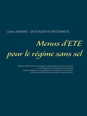 cover image of Menus d'été pour le régime sans sel