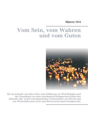 cover image of Vom Sein, vom Wahren und vom Guten