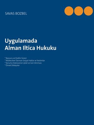 cover image of Alman Iltica Hukuku