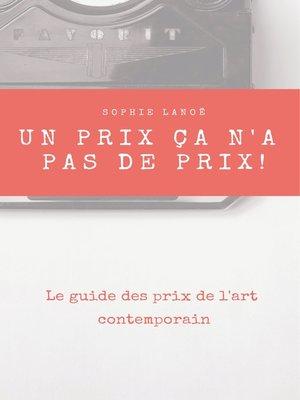 cover image of Un Prix ça n'a pas de Prix !