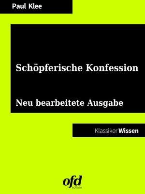 cover image of Schöpferische Konfession