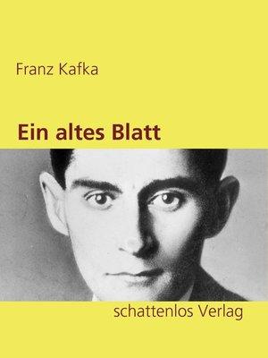 cover image of Ein altes Blatt