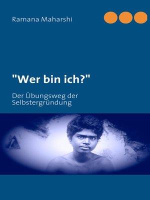 """cover image of """"Wer bin ich?"""""""