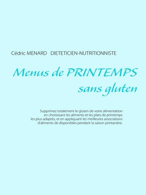 cover image of Menus de printemps sans gluten