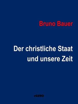 cover image of Der christliche Staat und unsere Zeit