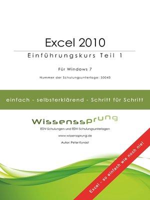 cover image of Excel 2010--Einführungskurs Teil 1