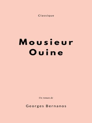 cover image of Monsieur Ouine