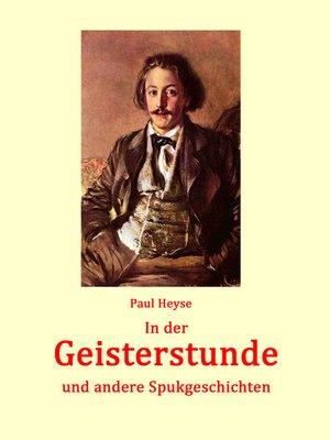 cover image of In der Geisterstunde und andere Spukgeschichten