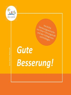 cover image of Gute Besserung!