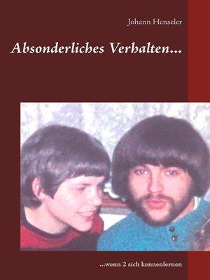 cover image of Absonderliches Verhalten...