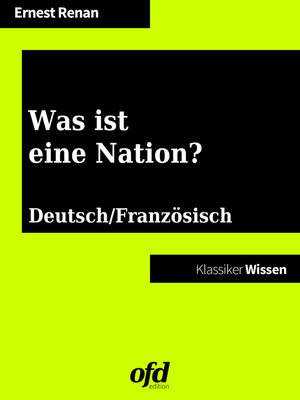 cover image of Was ist eine Nation?--Qu'est-ce que une nation?