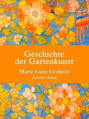 cover image of Geschichte der Gartenkunst