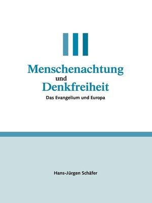 cover image of Menschenachtung und Denkfreiheit