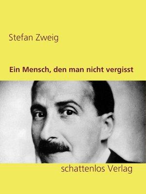 cover image of Ein Mensch, den man nicht vergisst