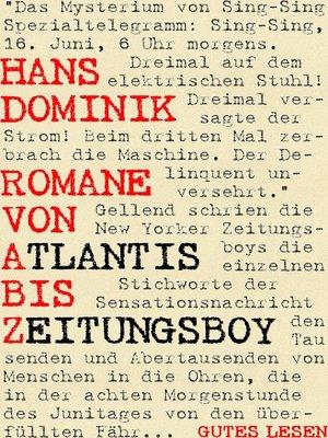 cover image of Romane von Atlantis bis Zeitungsboy
