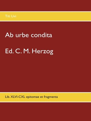 cover image of Ab urbe condita