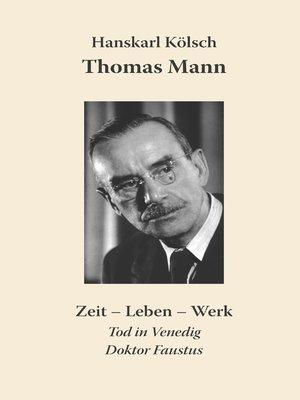 cover image of Thomas Mann Buddenbrooks Zauberberg Tod in Venedig Doktor Faustus